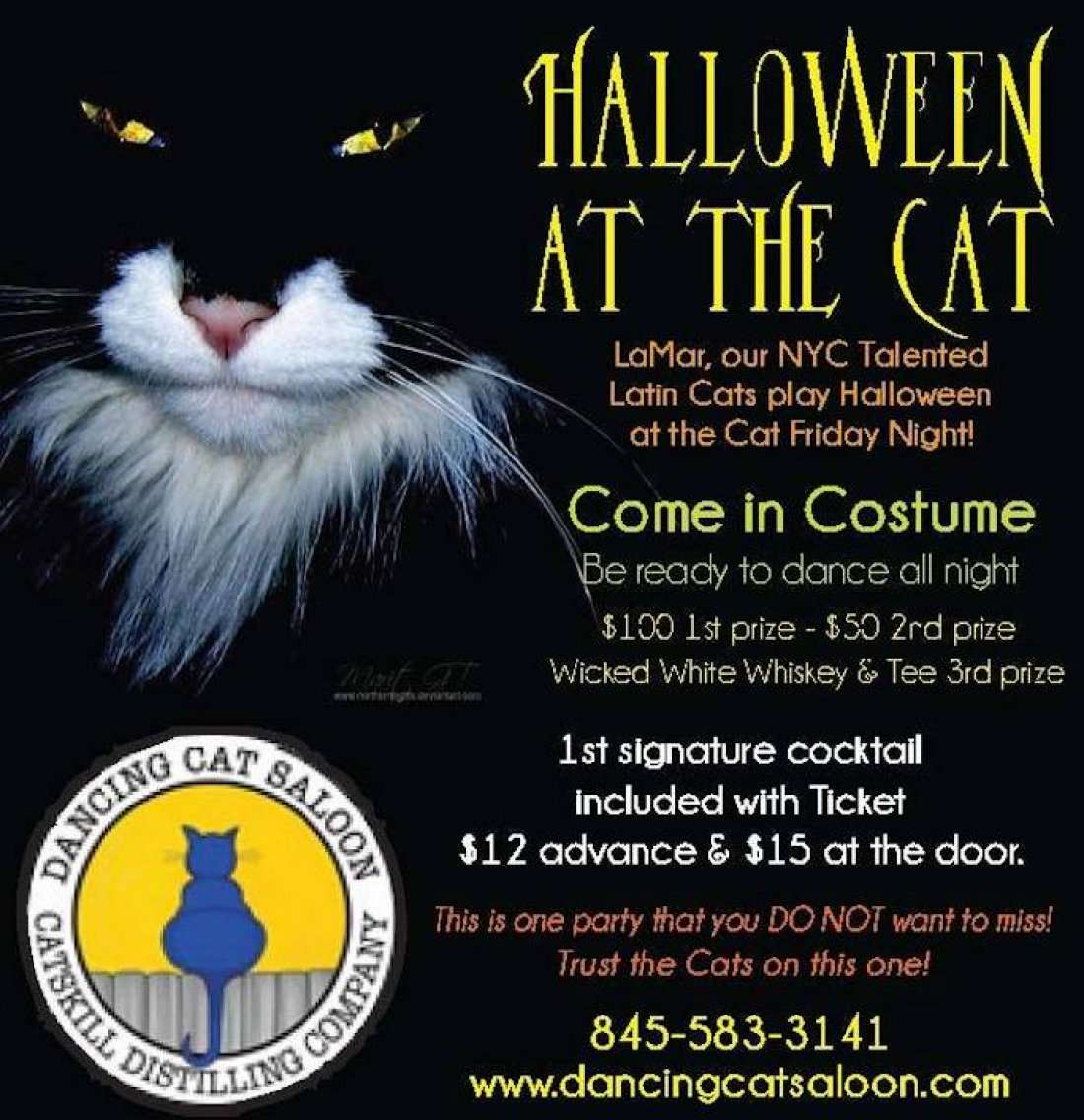 Halloween Party with Latin Cats LaMar! at Dancing Cat Distillery ...