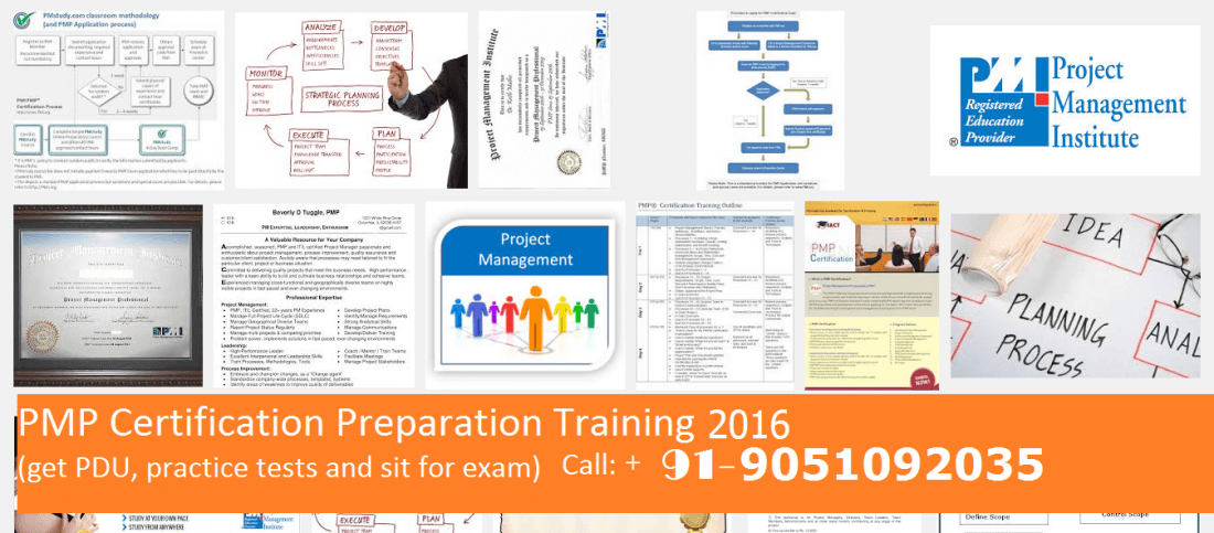 Pmp Certification Preparation Classroom Training In October 2016