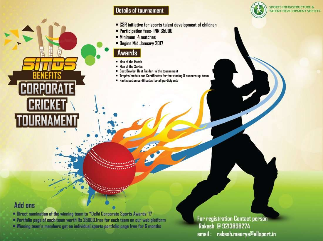 Sitds benefits corporate cricket tournament sports infrastructure advertisement stopboris Gallery