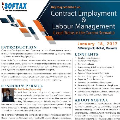 Workshop on &quotContract Employment &amp Labour Management&quot.
