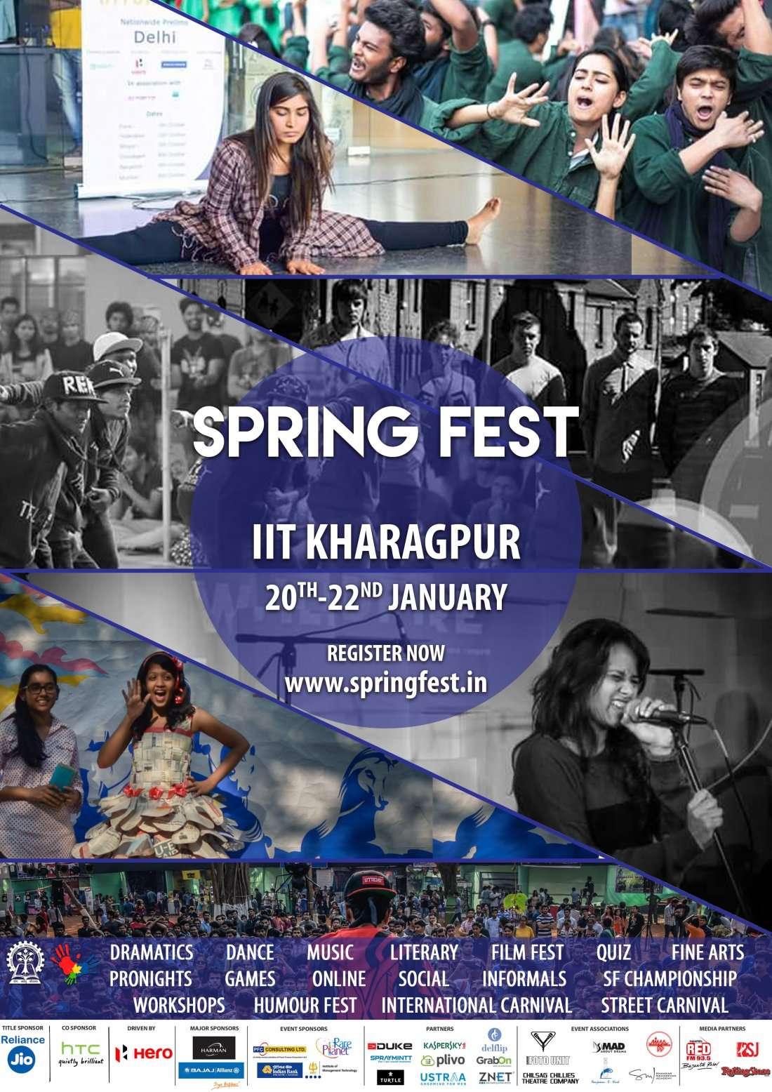 SPRING FEST 2017 IIT KHARAGPUR