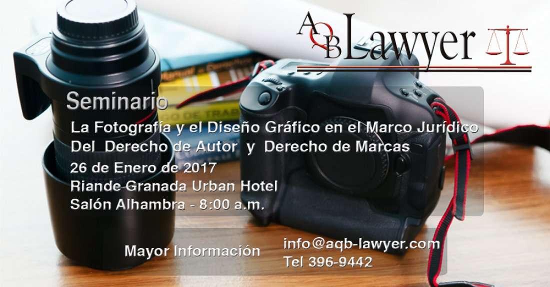 Seminario Fotografa y Diseo Grfico en el Marco Jurdico del Derecho de Autor y Derecho de Marcas
