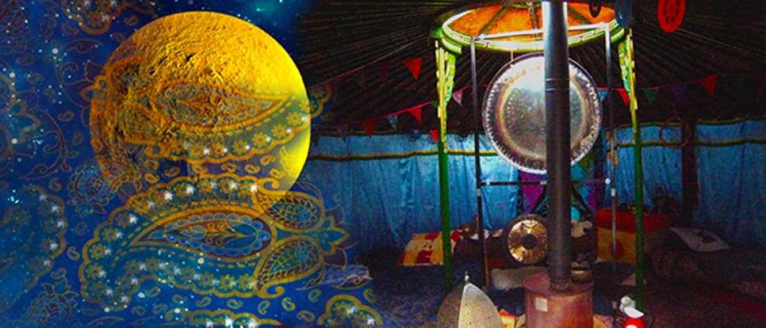 Thursday Full Moon Gong Bath in the Yurt