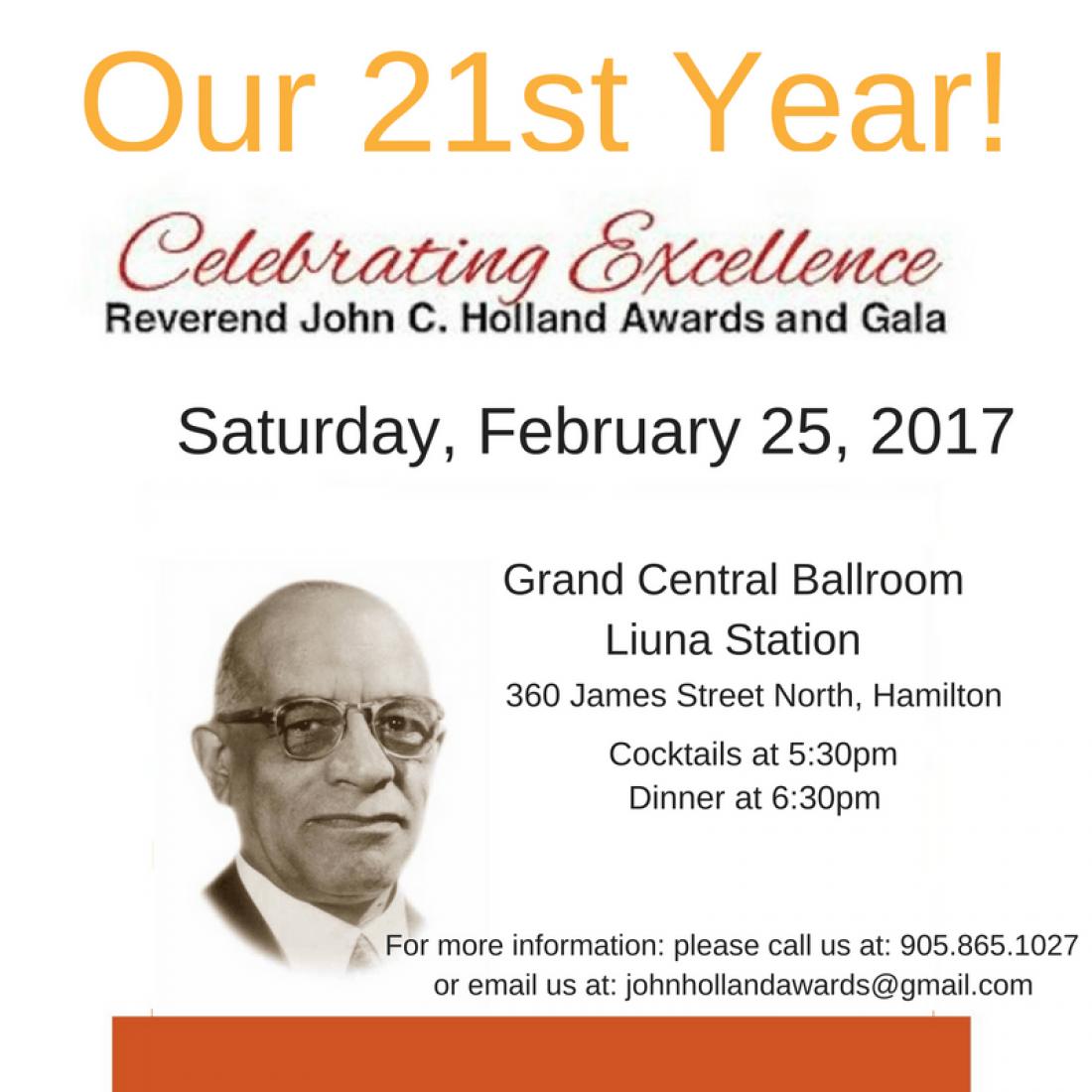 The 21st Annual Rev. John C. Holland Awards