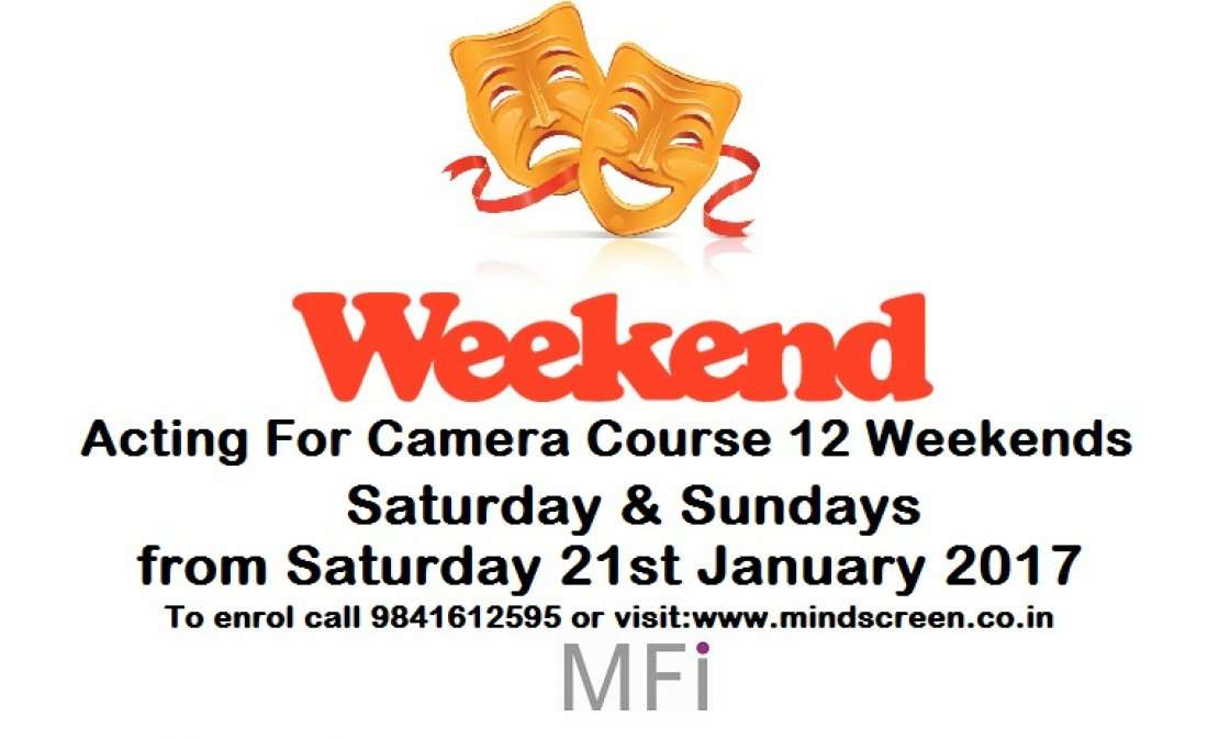 Weekend Acting For Camera Course (12 Weekends) Saturday & Sundays