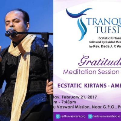 Singer Ameya Dabli to perform at Tranquil Tuesdays - 21Feb.2017