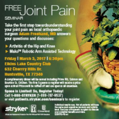 Free Arthritis Joint Pain Seminar