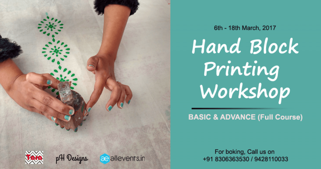 Hand Block Printing - Basic & Advance Workshop at pH Designs