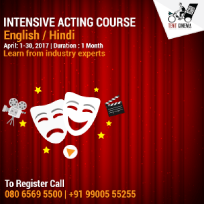 1 Month Intensive Acting Course - (EnglishHindi)