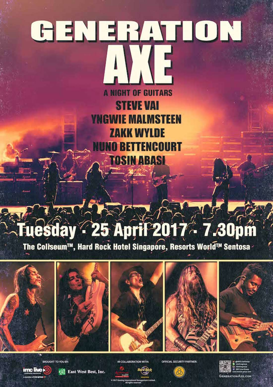 generation axe - a night of guitars live concert in singapore at