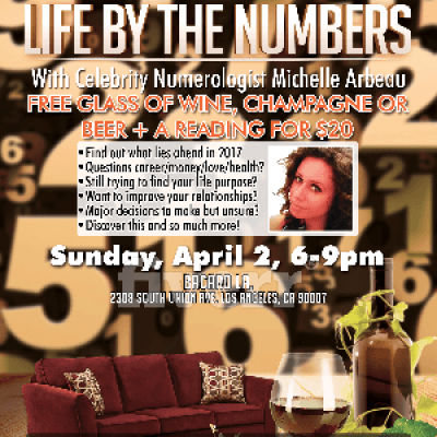 Wine &amp Readings with Celebrity Numerologist Michelle Arbeau