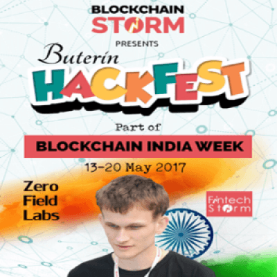 Blockchain Storm HACKFEST - for Corporates &amp Startups 15-16 May2017 Mumbai