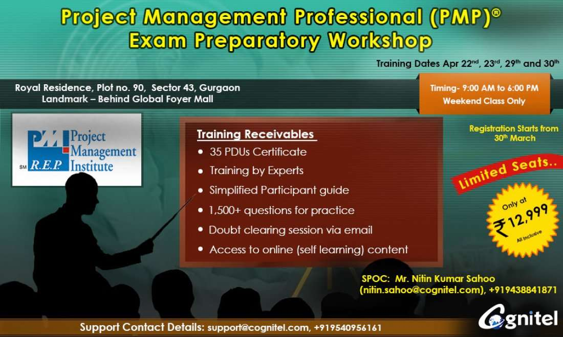 Pmp Certification Exam Prep Sessions April 2017 At Royal Residence