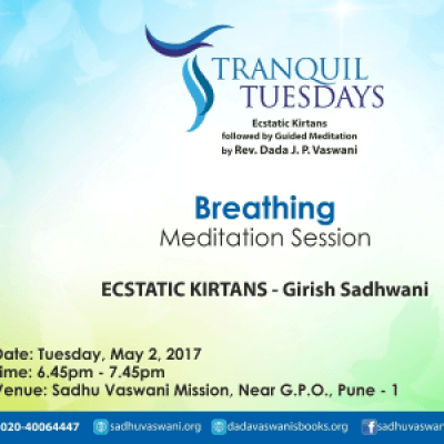 Meditation on Breathing at Tranquil Tuesdays - May 2 2017