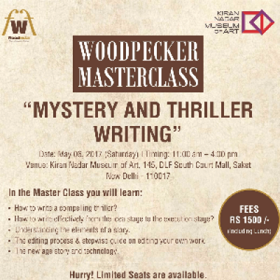 Woodpecker Masterclass on &quotMystery and Thriller Writing&quot by Kulpreet Yadav