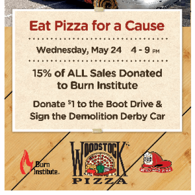 Pizza for a Cause - Support the Local Burn Institute