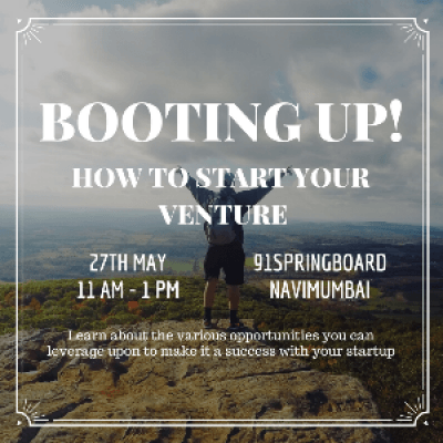 Booting up How to start your venture