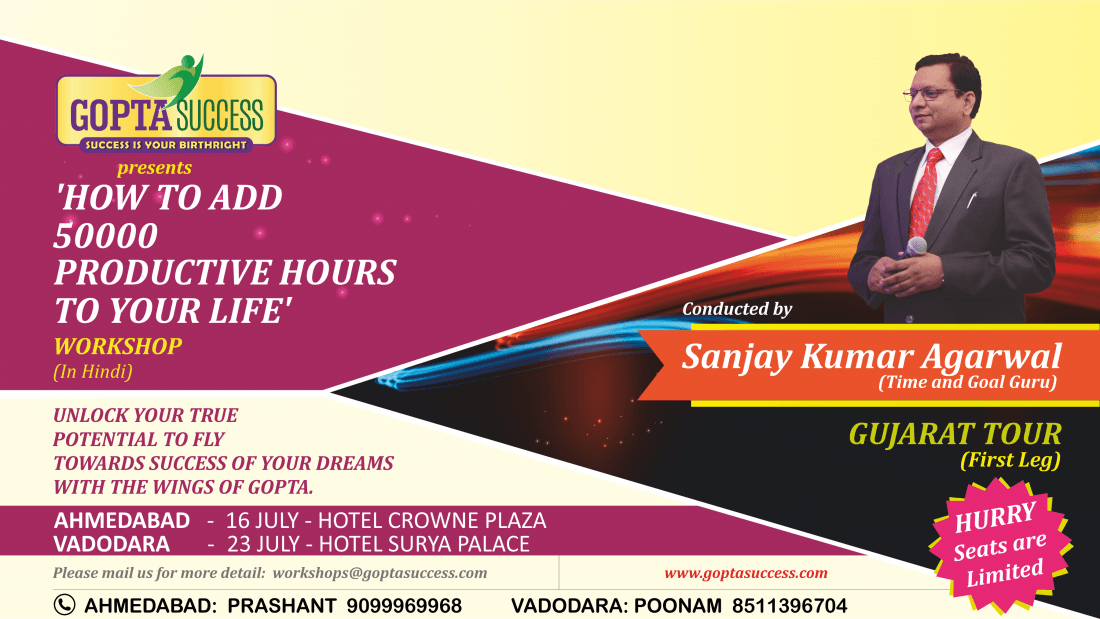 Workshop on How to Add 50000 Productive Hours to Your Life