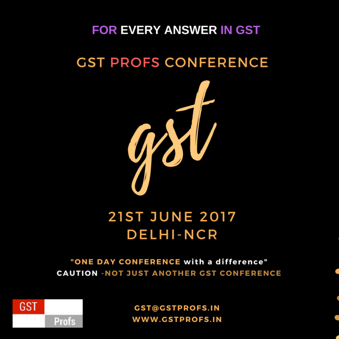 GST PROFS CONFERENCE