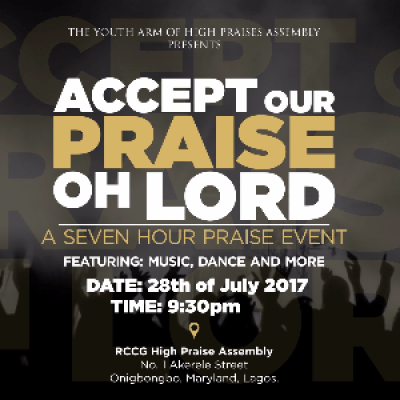 Accept Our Praise Oh Lord