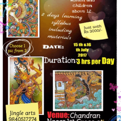 TWO DAYS KERALA MURAL PAINTING WORKSHOP
