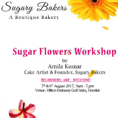Sugar Flowers Workshop  Hilton Bangalore
