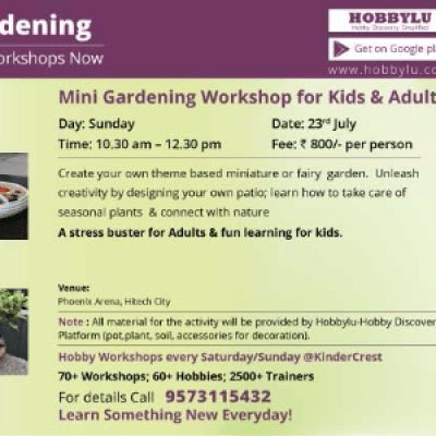 Miniature Gardening Workshop For Kids And Adults By Hobbylu
