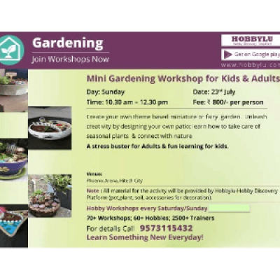Miniature Gardening Workshop By Hobbylu