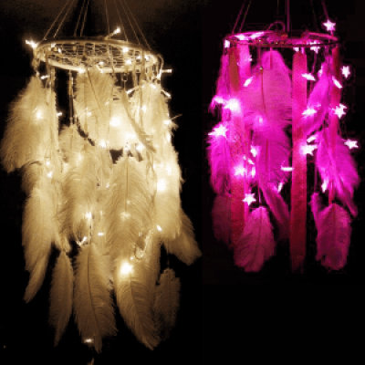 DIY Dream Catcher Fairy Lamps