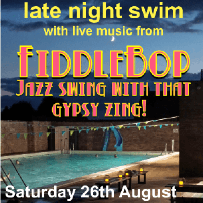 Jazz by the Pool Late Night Swim at Chippy Lido