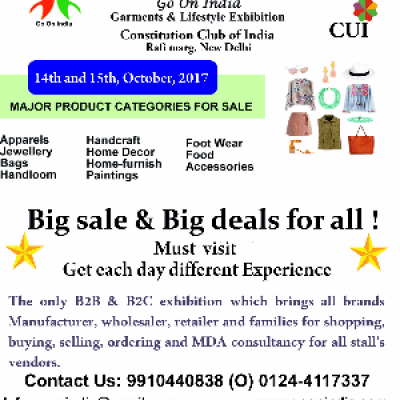 Go On India for Garments &amp lifestyle Exhibition