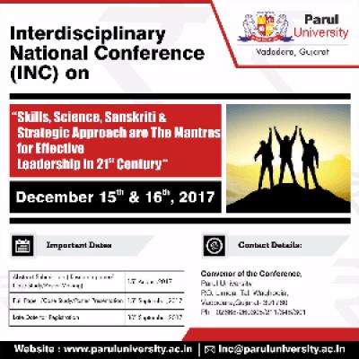 Interdisciplinary National Conference (INC) 2017