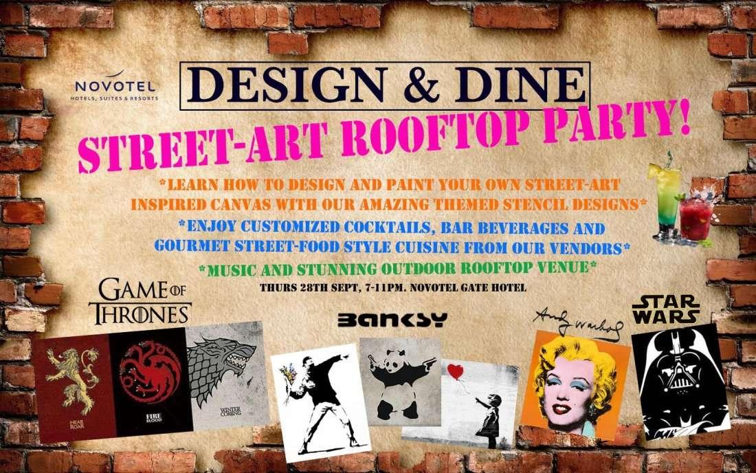 Design & Dine - Street Art Rooftop party