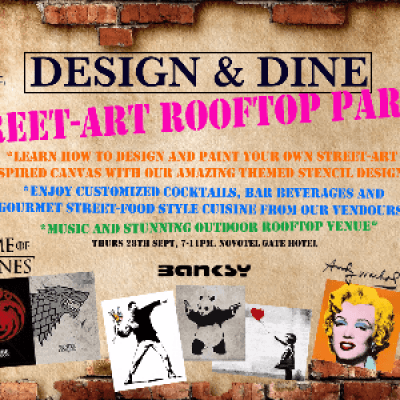 Design &amp Dine - Street Art Rooftop party