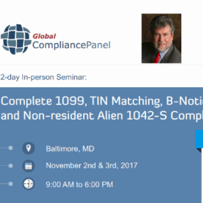 Complete 1099 TIN Matching B-Notice FATCA 2017