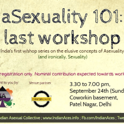Asexuality 101 LAST time in Delhi
