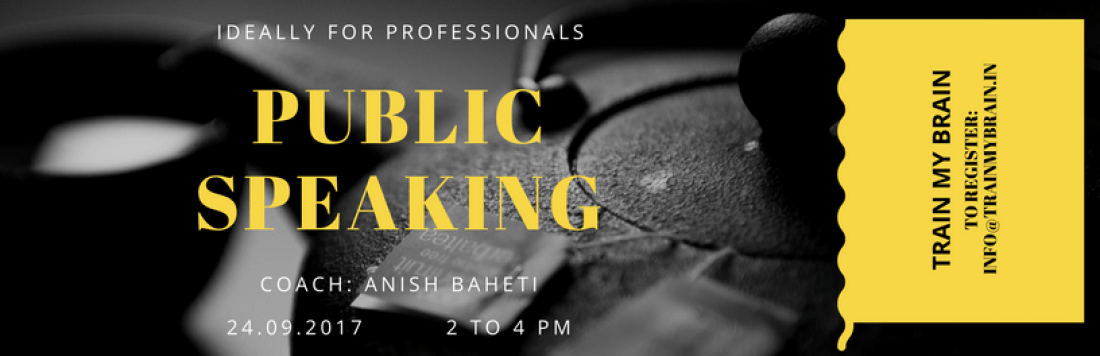 Public Speaking for Professional