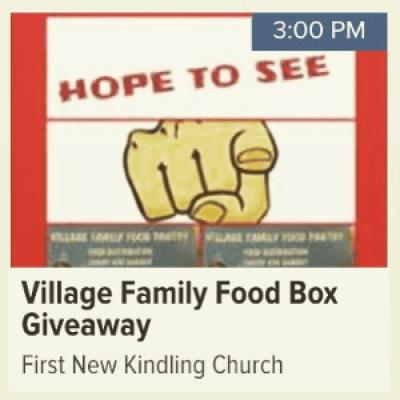 Village Family FREE FOOD Giveaway &amp Awareness