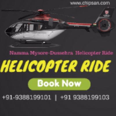 Namma Mysore Helicopter Ride 2017 - By Chipsan Aviation