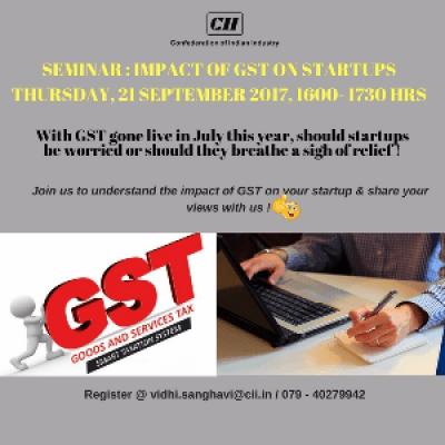 Seminar  Impact of GST on Startups