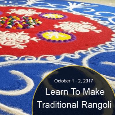 Learn to Make Traditional Rangoli Edition -2