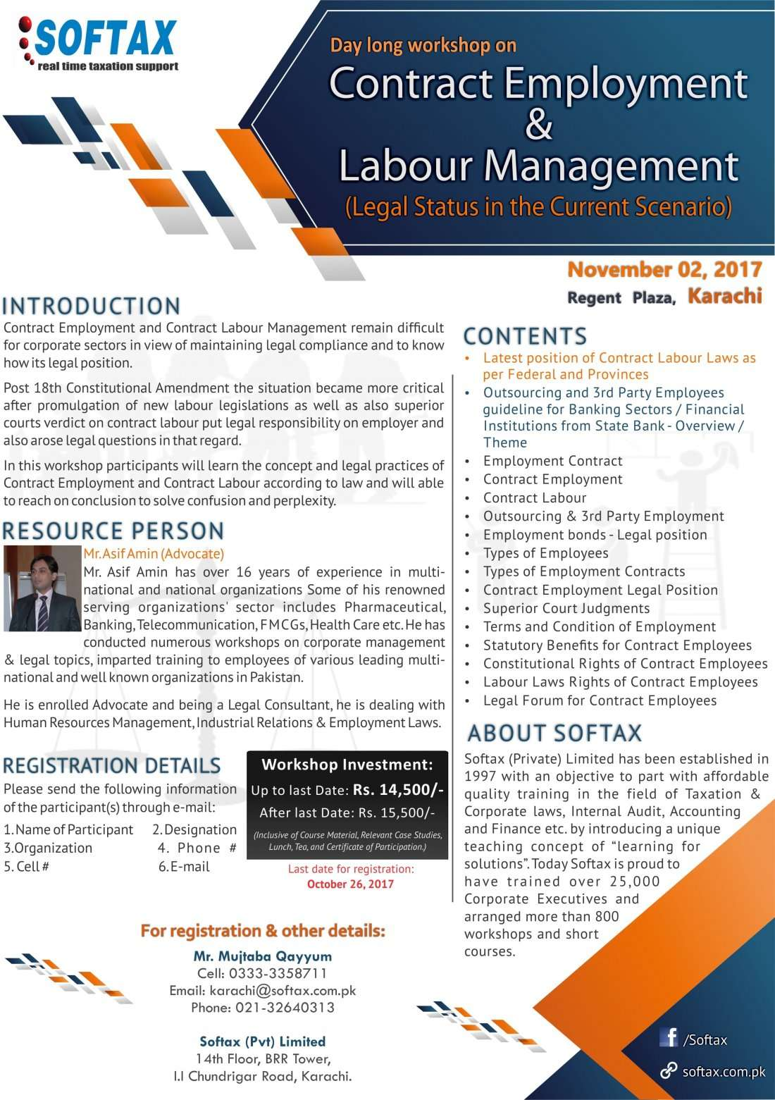 Workshop on Contract Employment & Labour Management (Legal Status in the Current Scenario)
