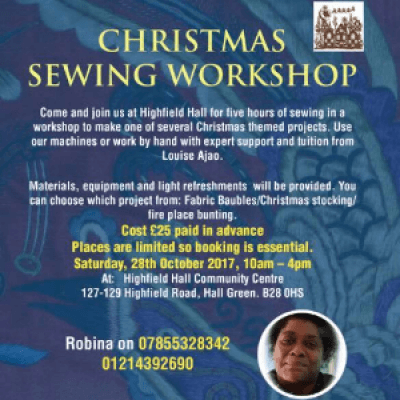 Highfield Hall Christmas Sewing Workshop