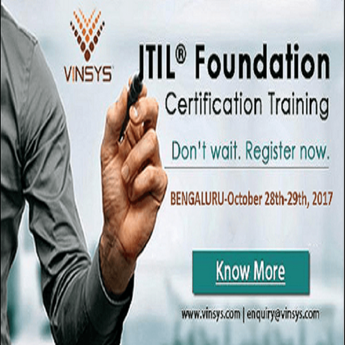 Itil Foundation Certification Training In Bangalore Vinsys At