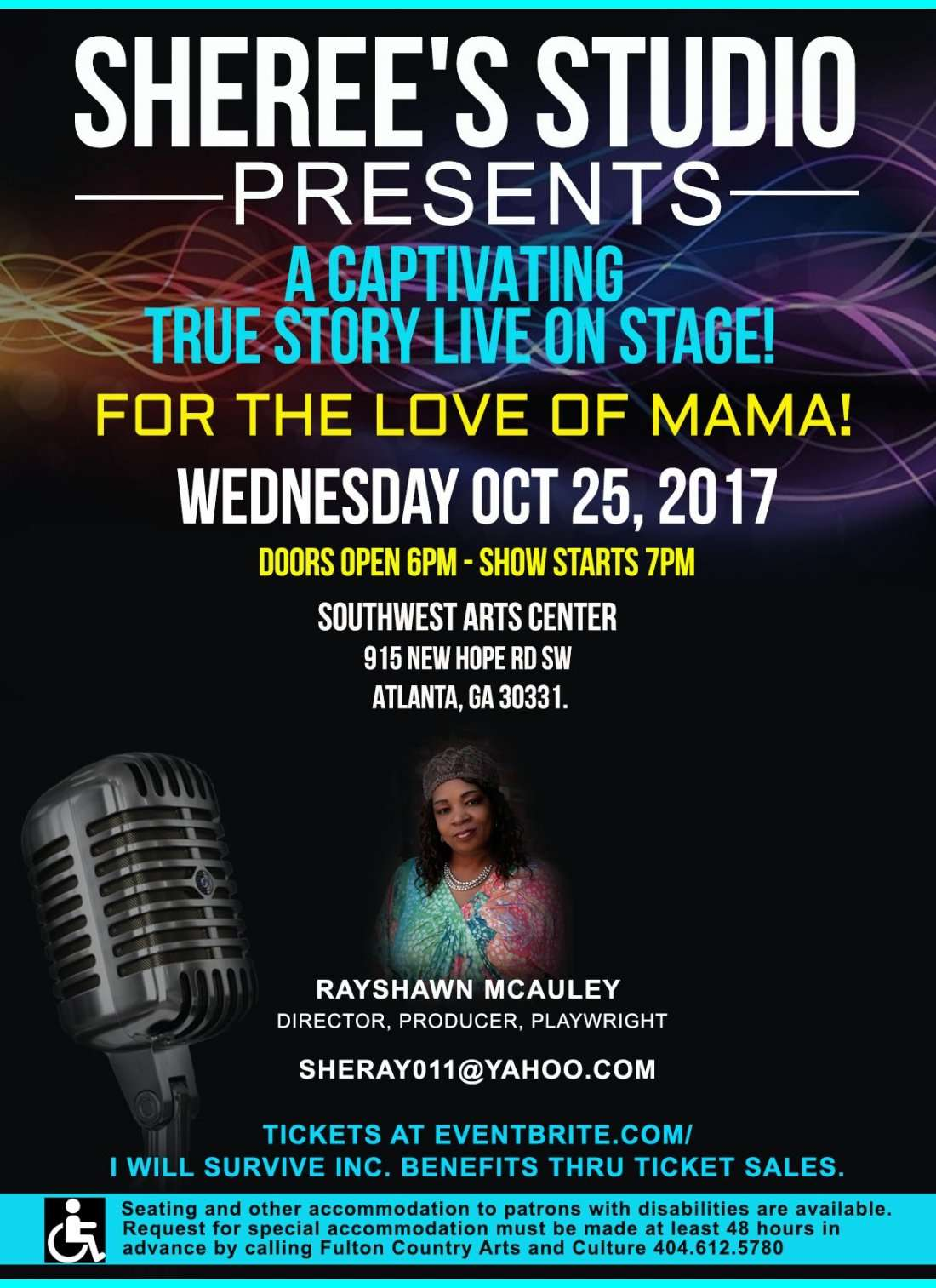 For The Love Of Mama Stage play & Buffet Dinner