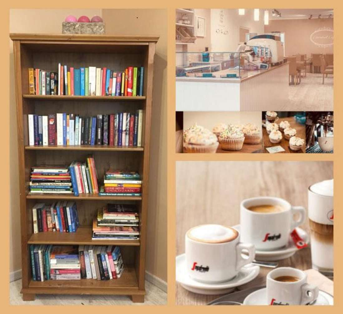 Caramel Cafe book swap event