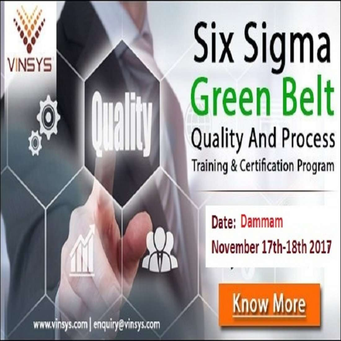 Six sigma green belt certification training in dammam vinsys at event details 1betcityfo Images