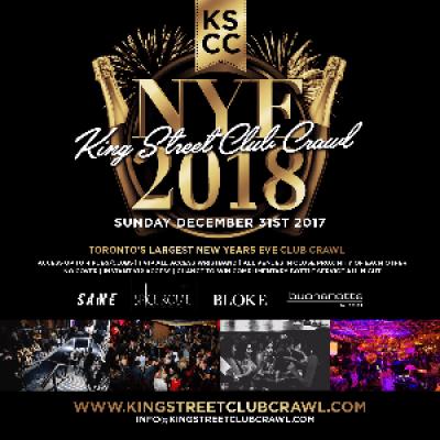 Toronto New Years Eve King Street Club Crawl