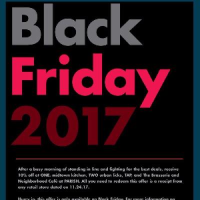 Enjoy 10% Off at Concentrics Restaurants This Black Friday