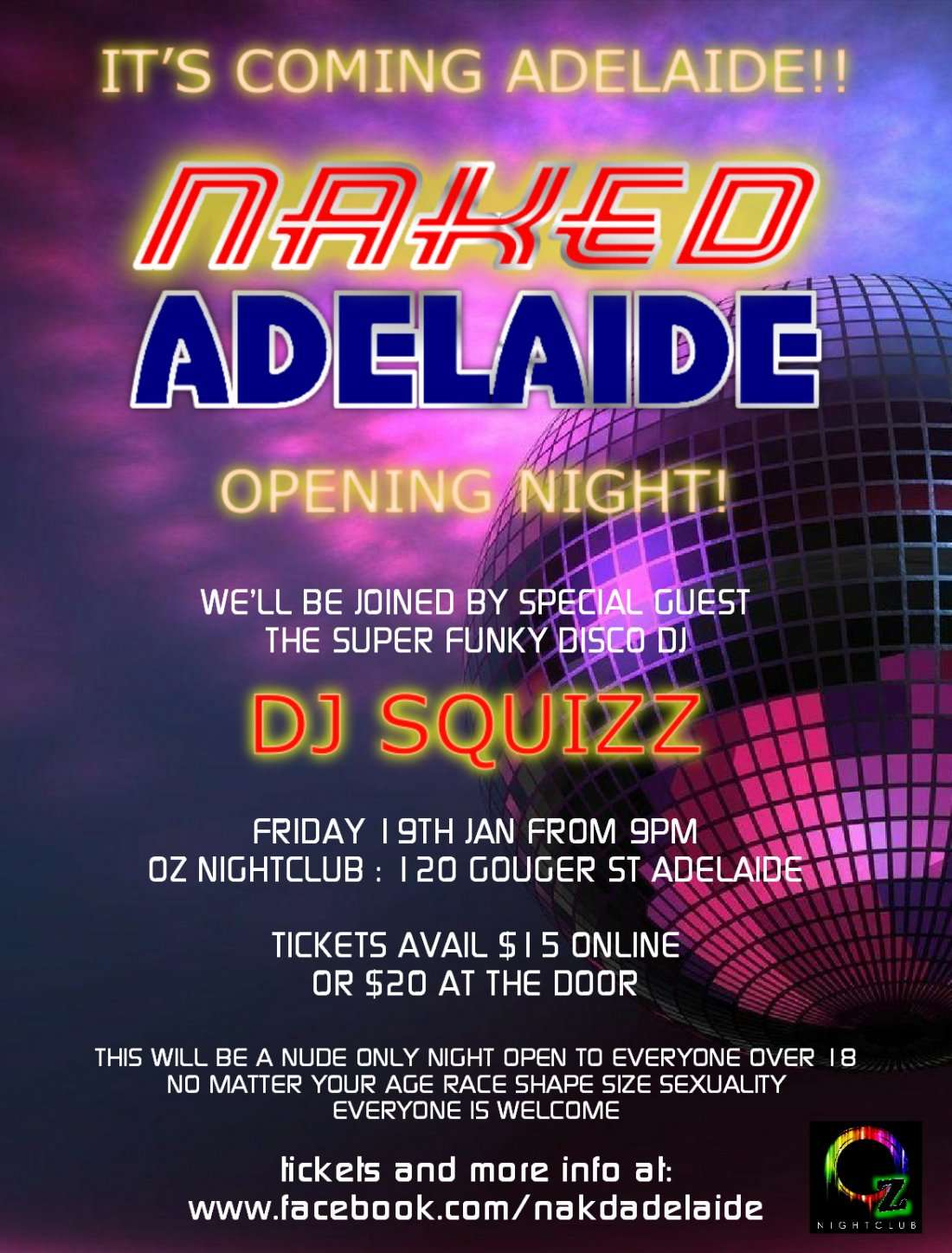 Adiland Porn Pics naked adelaide - opening night at oz night club, adelaide